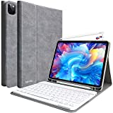 iPad Pro 11 Keyboard Case 2020 Detachable Wireless Bluetooth Keyboard Magnetic Smart Case for iPad Pro 11 2020/2018(2nd/1st Gen)- with Pencil Holder-Supports Apple Pencil Charging, Gray