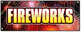 Fireworks I Banner Sign Stand Firework Store Signs