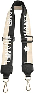 Purse Strap Replacement Guitar Style Multicolor Canvas 85cm-28cm Crossbody Strap for Handbags