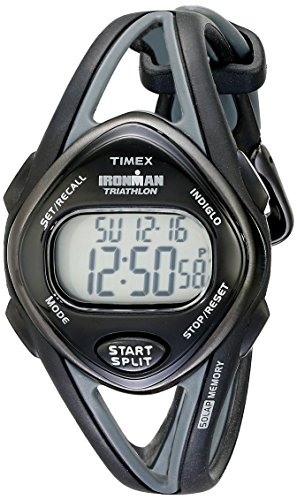 Timex Women's T5K039 Ironman Sleek 50 Mid-Size Black Resin Strap Watch