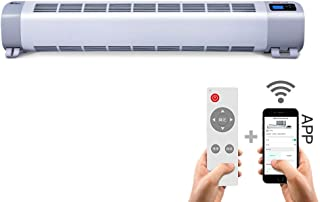 WSJ Calentadores de Placa Base, Placa Base eléctrica Calefacción de Piso móvil Radiadores convectores de Baja energía con termostato Inteligente de Calor de Placa Base (Color: 2200W)