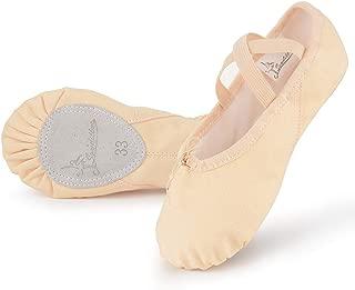 Soudditur Girls Ballet Slippers Cotton Canvas Ballet Shoes Dance Yoga Flats (Toddler/Little Kid/Big Kid/Women/Boy)