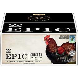 EPIC Chicken Sriracha Protein Bars, Keto Consumer Friendly, 12Ct Box 1.5oz bars