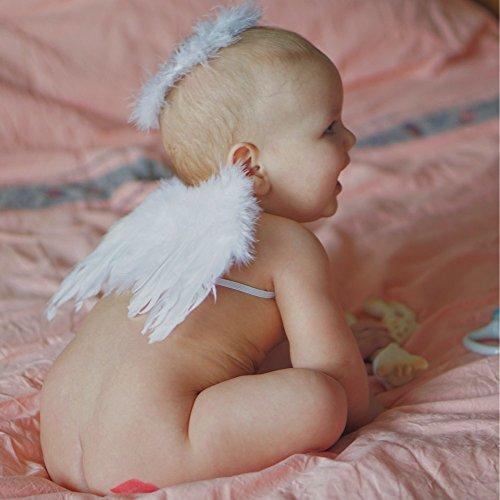 AGAN 2021 Newborn Cappello Bambini Bambino Fata Angelo Ala Piuma Fascia Costume puntello della Foto per Il Regalo del Partito Regalo