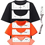 T Shirt Alignement Tool, 6PCS T Shirt Ruler Guide for Vinyl Alignment, PVC T Shirt Ruler for Heat Press, Different Size T Shirt Rulers to Center Designs
