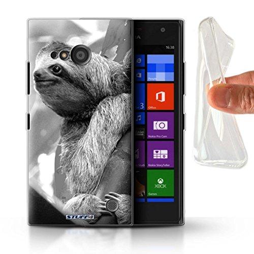 Hülle Für Nokia Lumia 730 Zoo-Tiere Faultier Design Transparent Dünn Flexibel Silikon Gel/TPU Schutz Handyhülle Hülle