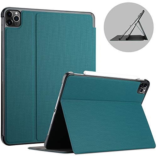 ProCase for iPad Pro 12.9 Case 2020 Release, 4th Generation, Shockproof Folio Cover Slim Lightweight Protective Book Case -Teal