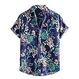 Camisetas Manga Corta Hombre Hawaianas Solapa Suelta Funky de Playa Surf Señores Moda con Estampado de Talla Grande Corte Holgado Originales Baratos cómodo Ropa Casual t Shirt Camisas Hombres