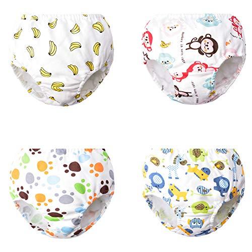 Morbuy Baby Lernwindel Trainerhosen 4 Stück Unterwäsche Windeln Windelhose zum Toilettentraining für Baby Kleinkind Töpfchen Klingelhose Trainer Windelhosen (A,140# / 4-5 Jahre)