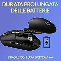 Logitech G305 Mouse Gaming Wireless Lightspeed, Sensore HERO, Lilla + Logitech G733 Lightspeed Cuffia Wireless con Microfono Gaming, Lilla #7