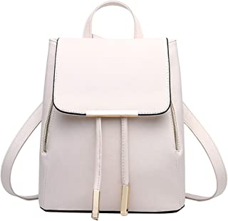 Womens Bag Backpack Purse PU Leather Zipper Bags Fashion Casual Rucksack Satchel and handbag