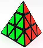 YJ Pyramid Speed Cube 3X3 Triangle Magic Cube Puzzle Toy Black