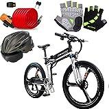 Bicicleta eléctrica de nieve, Bicicletas eléctricas rápidas for adultos de 26 pulgadas eléctrica plegable bici de la playa de la nieve de bicicletas E-bici eléctrica 400W ciclomotor eléctrico Montaña