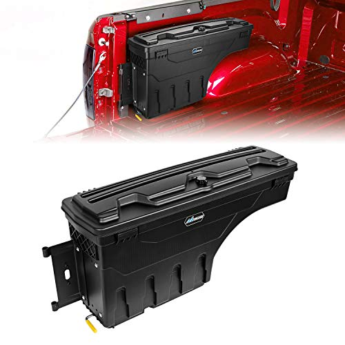 Nilight Truck Bed Storage Box, Lockable Wheel Well Truck Toolbox for 2007-2020 Tundra Driver Side