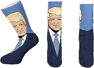 Cool Socks President Donald Trump Crazy Novelty Crew Socks