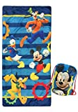 Disney Junior Mickey Mouse Clubhouse Get Going Slumber Sack - Cozy & Warm Kids Lightweight Slumber Bag/Sleeping Bag - Featuring Mickey Mouse, Donald Duck, Goofy, & Pluto (Official Disney Product)