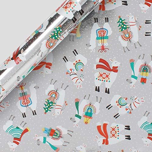 Paperchase Llama Christmas Inpakpapier - 20 rollen