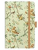 Premium Timer Small Blütenfantasie - Kalender 2020 - Korsch-Verlag - Taschenkalender A6 mit Stifthalter, Lesebändchen und Zetteltasche - eine Woche auf 2 Seiten - Buchkalender 9 cm x 14 cm