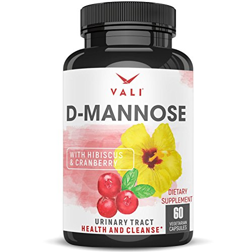 D Mannose 1000 mg Urinary Tract Health Formula - Triple Strength Organic Cranberry 50:1 Concentrate & Hibiscus. Healthy Bladder Function, Natural Yeast Cleanse & UTI Support Pills, 60 Veggie Capsules