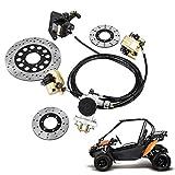 Mophorn GO-KART Brake Master Cylinder Kit Go Kart Hydraulic Brake Kit Universal Go Karts Brake Kit...