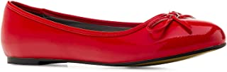 Andres Machado - Ballerines pour Femmes/Filles à Talons Plats et nœud décoratif - TG104 - Chaussures Plates pour l´éte et ...