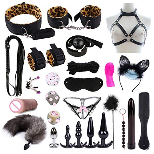BURAN Adult Fun 26Pcs / Set Bed Game Play Set Bindende Sexspiele Spielzeug Für Paare Kits