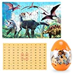 Dinosaur Puzzle, Wooden Puzzles 60 Pieces Puzzles for Kids 3 Years+ Dino Toys 2 Pack Boys Girls Gift 11 ❤SUPER HUGE SIZE DINOSAUR EGG TOY:8.7'' * 5.2 '' , kids need two hands to hold it, combining dinosaur egg with dinosaur puzzle, all kids love it! ❤THE BEST GIFT: Dinosaur Puzzle is suitable for children of 4-5-6-7-8-9-10-11-12 years old as a gift, Christmas, Easter, birthday, game party. ❤EDUCATIONAL DETAILS: This children's dinosaur puzzle allows kids to explore our prehistoric time period, learning about the environment in which the dinosaurs from millions of years ago lived.