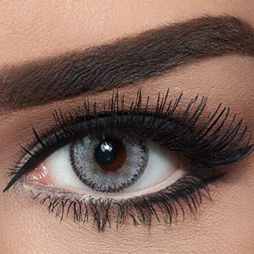 """natürliche stark deckende farbige Kontaktlinsen graue Farblinsen """"Luminous Pearl"""