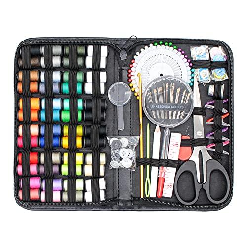 JEJA Kit de Costura, Kit Coser Profesional para Sastre con 172 piezas Accesorios de Costura, Mini Portátil Suministros de Costurero, para Sastre, Familia, Principiante, Hogar, Viajes