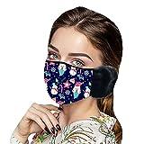 AQ89 Weihnachts Mundschutz Tuch Erwachsene Baumwolle Waschbare Atmungsaktiv Lustig Bunt Mit Motiv Mund und Nasen und Nasenschutz Halstuch (D)
