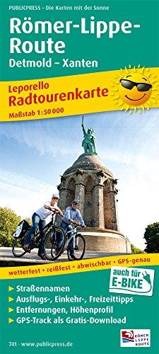 Römer-Lippe-Route, Detmold - Xanten: Leporello Radtourenkarte mit Ausflugszielen, Einkehr- & Freizeittipps, wetterfest, reißfest, GPS-genau, 1:50000 (Leporello Radtourenkarte: LEP-RK)