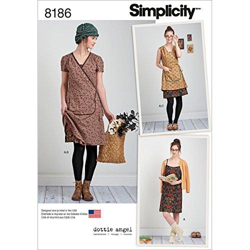 Simplicity Schnittmuster 8186Schnittmuster Dottie Engel Mantel,: Wrap & Trägerkleider, weiß