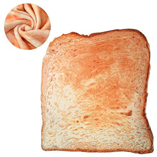 Sylfairy Bread Blanket, Burritos Tortilla Blanket, Realistic Burritos Wrap Novelty Blanket, Soft and...