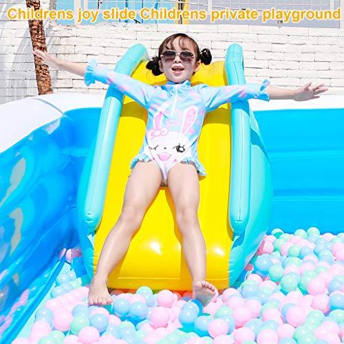VWsiouev Tobogán de agua inflable para piscina, para niños, verano y fiestas acuáticas, apto para piscina, patio trasero