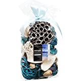 Qingbei Rina Ocean Scent Potpourri Bag Dried Flower Home Decoration Fragrance Perfume Sachet Vase Bowl Filler Table Centrepiece Wedding Party Gift Volume of 60 Fluid-Oz,Weight of 9.9 Oz(Blue)