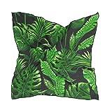 ALARGE Bufanda cuadrada de seda tropical de hojas de palma de colores protectores solares ligeros y suaves para el cuello, bufandas para mujeres y niñas