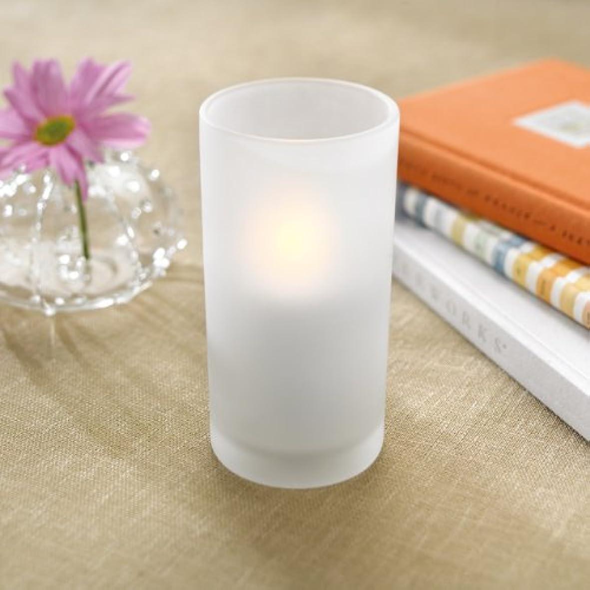 欺一時停止より多いsmartcandle-LEDトールグラスキャンドル/ホワイト