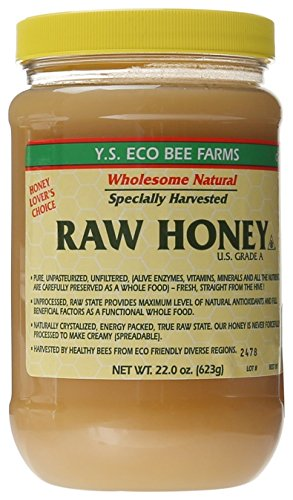 YS Eco Bee Farms - Raw Honey - 22 oz (Pack of 5)