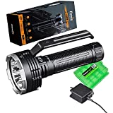 Fenix LR80R 18000 Lumen Super Bright Rechargeable Search Flashlight/Power Bank with EdisonBright Charging Cable Carrying case