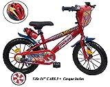 Vélo Enfant Cars 14'' - Rouge + Casque Inclus