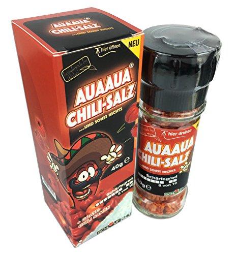 Schlump-Chili⎥AUAAUA® Salz Gewürz Geschenk Set⎥Habanero Chilisalz Gewürzmühle inkl. Chilisamen (1 Stk.)