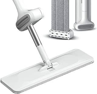 Microfiber Mop Floor Cleaning System, 360 Dry Wet Reusable Dust Mops Dust Mop with Self Wringing,Washable Pads Perfect Cleaner for Hardwood, Laminate & Tile,Microfiber Extendable MopS