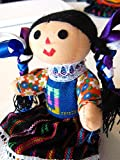 Mexican Rag Doll Artisan Hand Made Maria Costume Mexico Fair Trade 7' Toy Girls w/Worry Doll Pin Gift