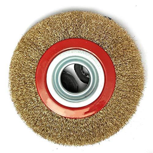 LANCYG Disco Abrasivo, Rueda De Pulido 1 UNIDS Cepillo de Rueda de Alambre Plana de Acero de 8 Pulgadas de 8 Pulgadas for el Polaco de la Amoladora del Banco