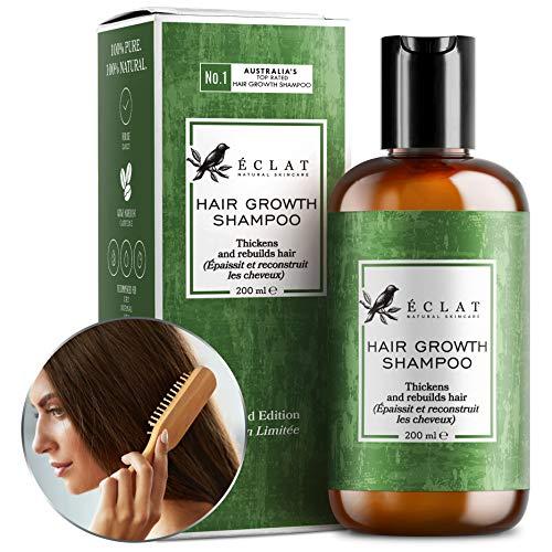 Haarwuchs-Shampoo von Eclat - Anti-Haarausfall-Shampoo mit Natürlichem Koffein und Arganöl zur Stimulierung von Haarwuchs und -dicke und zur Vorbeugung von Haarausfall