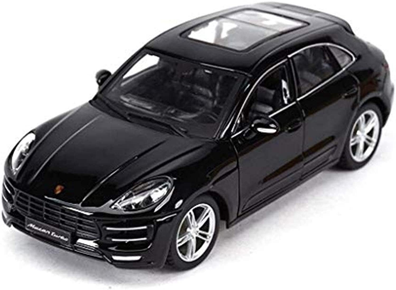 GHMHJH Car Model, 1 24 Model Alloy Diecasting Car Model Series Model Pull Back Car Toy Gift Boy Scale Model Simulation Car (color  Black)
