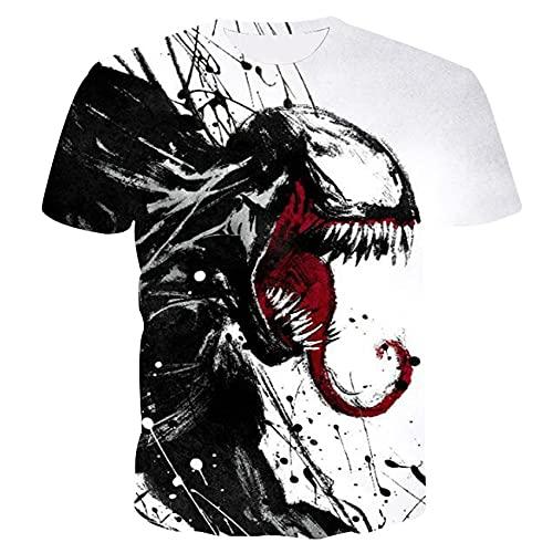 Sommer Digitaldruck Kurzarm Herren T-Shirt Rundhals Slim Paar Kurzarm
