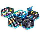 MTS pour Enfant Lot de 52Craft Art Artistes Set Crayons Boîte Stylos Crayons Peintures à tête hexagonale
