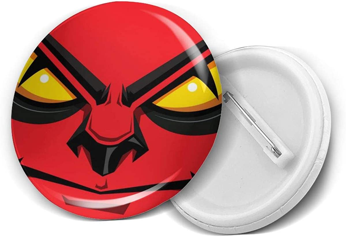 Cartoon Angry Face Eyes Red Mad Brooch Pins Max 43% OFF Round Badge Wome OFFicial For