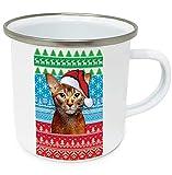 teesquare1st Christmas Abyssinian p 10oz Tazza da Caffe Natalizia/Tazza di Natale